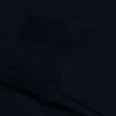 A&F Slim Fit Pullover Gathering Bottom Fleece Track Suit For Men-Dark Navy-BE6594