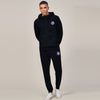 A&F Slim Fit Pullover Rib Bottom Fleece Track Suit For Men-Black-BE6421