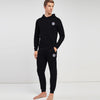 A&F Slim Fit Pullover Rib Bottom Fleece Track Suit For Men-Black-BE6426