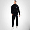 A&F Slim Fit 1/4 Zip Rib Bottom Fleece Track Suit For Men-Black-BE6429
