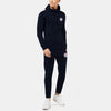 A&F Slim Fit Zipper Gathering Bottom Fleece Track Suit For Men-Dark Navy-BE6591