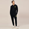 A&F Slim Fit Zipper Rib Bottom Fleece Track Suit For Men-Black-BE6444