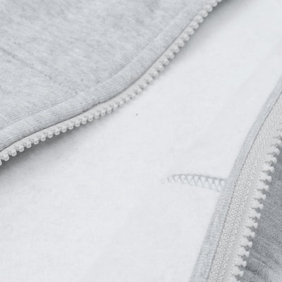 A&F Slim Fit Zipper Rib Bottom Fleece Track Suit For Men-Grey Melange-BE6469