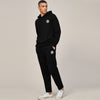 A&F Straight Fit Pullover Fleece Track Suit For Men-Black-BE6422