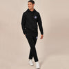 A&F Straight Fit Pullover Fleece Track Suit For Men-Black-BE6423