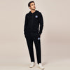 A&F Straight Fit Zipper Fleece Track Suit For Men-Black-BE6425