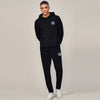A&F Straight Fit Pullover Fleece Track Suit For Men-Black-BE6450
