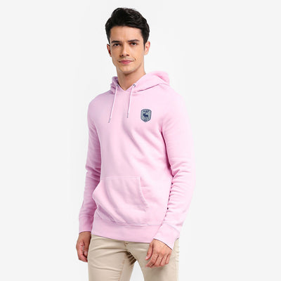A&F Terry Fleece Pullover Hoodie For Men-Light Pink-BE7204