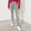 A&F Terry Fleece Slim Fit Jogger Trouser Grey & Navy Embroidery For Ladies-Grey Melange-BE6958