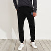 A&F Terry Fleece Slim Fit Rib Bottom Jogger Trouser For Men-Black-BE6996