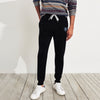 A&F Fleece Slim Fit Rib Bottom Jogger Trouser For Men-Black Melange-BE6993