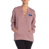 A&F Terry Fleece V Neck Stylish Pullover Hoodie For Ladies-BE6730