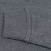 A&F Terry Fleece V Neck Stylish Pullover Hoodie For Ladies-Charcoal Melange-BE7133
