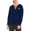 A&F Terry Fleece V Neck Stylish Pullover Hoodie For Ladies-Dark Blue-BE6948