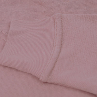 A&F Terry Fleece V Neck Stylish Pullover Hoodie For Ladies-Light Pink-BE7126