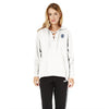 A&F Terry Fleece V Neck Stylish Pullover Hoodie For Ladies-White-BE7125