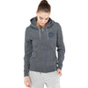 A&F Terry Fleece Zipper Hoodie For Ladies-Charcoal Melange-BE6582
