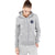A&F Terry Fleece Zipper Hoodie For Ladies-Grey Melange-BE6511