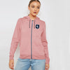 A&F Terry Fleece Zipper Hoodie For Ladies-Light Pink-BE7456