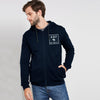 A&F Terry Fleece Zipper Hoodie For Men-Dark Navy-BE7908