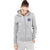 A&F Terry Fleece Zipper Hoodie For Ladies-Grey Melange-BE6510