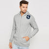 A&F Terry Fleece Zipper Hoodie For Men-Grey Melange-BE7906