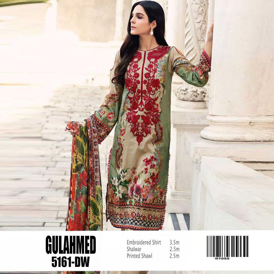 Gul Ahmad  Summer Collection Lawn 3 Piece Un-stitch Suit For Ladies-NA8401