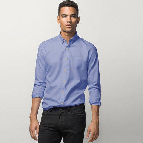 "Men's ""Uneek"" Full Sleeve Casual Shirt-Sky-BE2036"