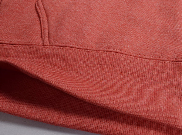 "Men's ""Rupas"" New York Embriodery Fashion Zipper Hoodie-Coral Orange"