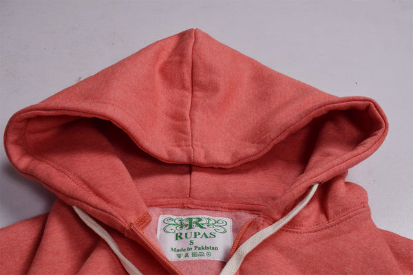 "Men's ""Rupas"" Fashion Zipper Hoodie-Coral Orange-FZH01"