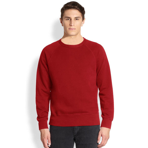 "Men's Cut Label ""Jack & Danny's"" Full Sleeve Crew Neck Sweat Shirt -Red-JDSS020"