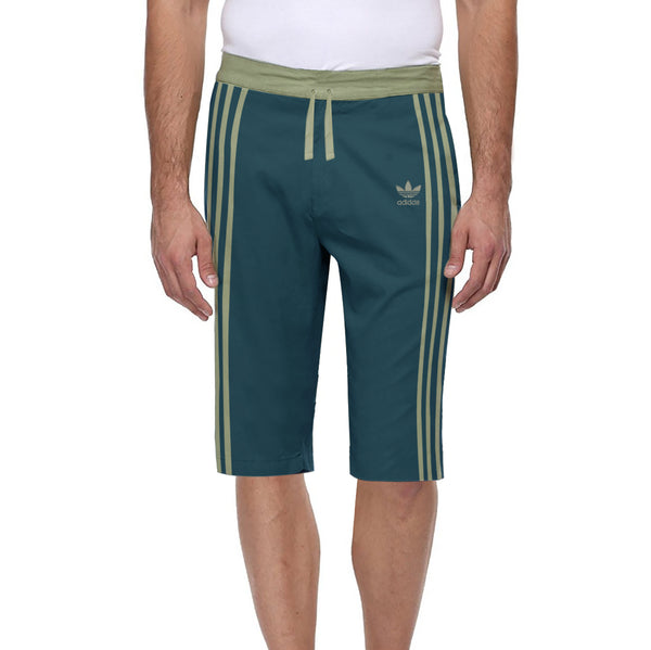 Adidas Cotton Short For Men-Zink & Grapes Stripe-BE5296