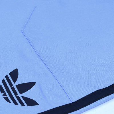 Adidas Cotton Trouser For Men-Deep Sky & Navy Stripe-BE5717