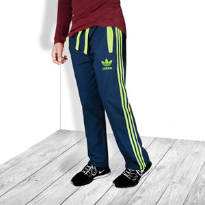 Adidas Cotton Trouser For Men-Light Navy & Parrot Stripe-BE5072