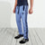 Adidas Cotton Trouser For Men-Light Sky with Navy Stripe-BE4956
