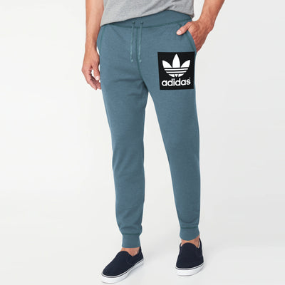 Adidas Fleece Slim Fit Jogger Trouser For Men-Dark Cadet Blue-BE10765