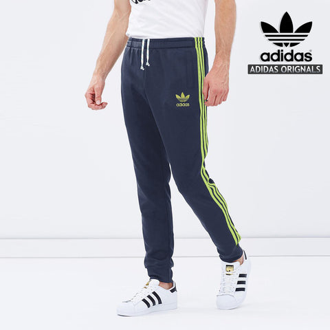 Adidas Cotton Trouser For Men-Dark Navy With Parrot Stripes-BE964