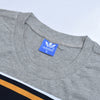 Adidas Single Jersey Crew Neck Long Sleeve Tee Shirt For Men-Grey Melange with Panels-BE11632