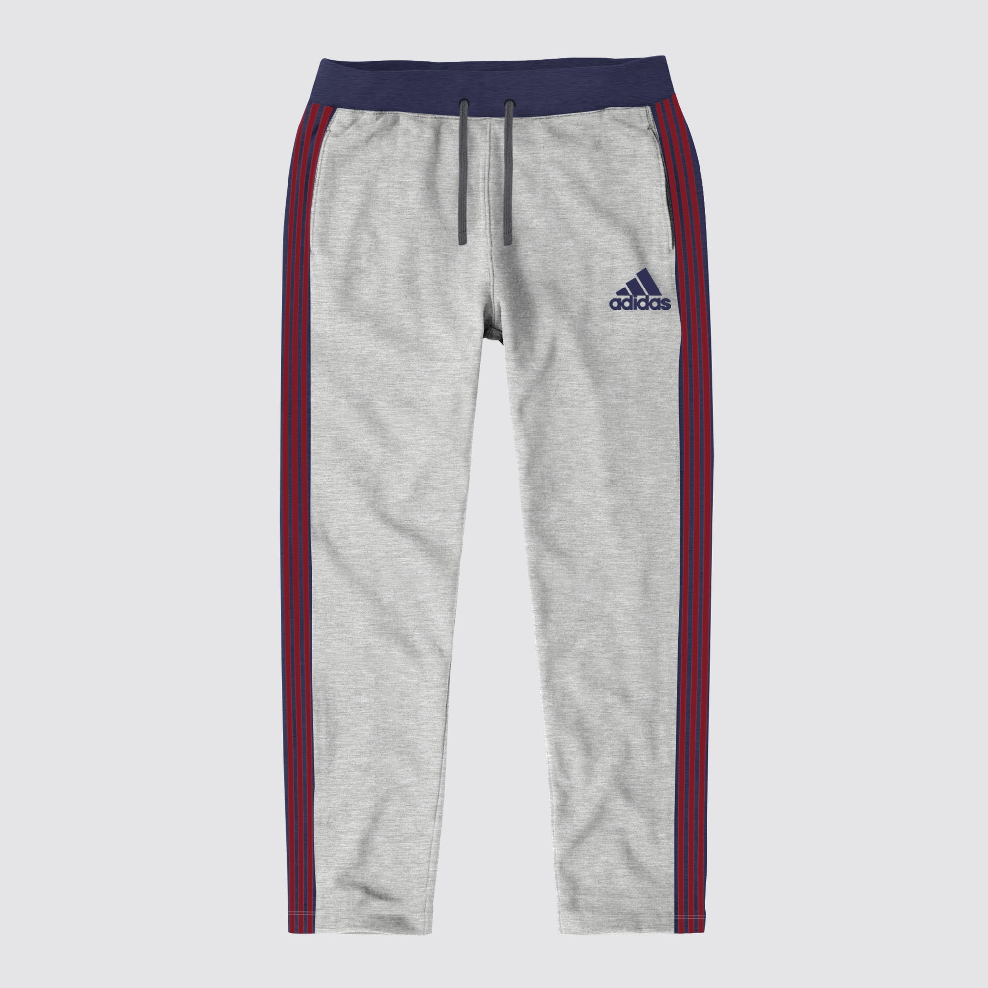 the best attitude 7d1f3 00e22 Adidas Single Jersey Regular Fit Jogger Trouser For Men-Grey With Navy    Maroon Stripe