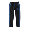 Adidas Single Jersey Regular Fit Trouser For Men-Charcoal Melange with Blue Stripe-BE9443