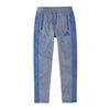Adidas Single Jersey Regular Fit Trouser For Men-Light Sky Melange with Blue Stripe-BE9442
