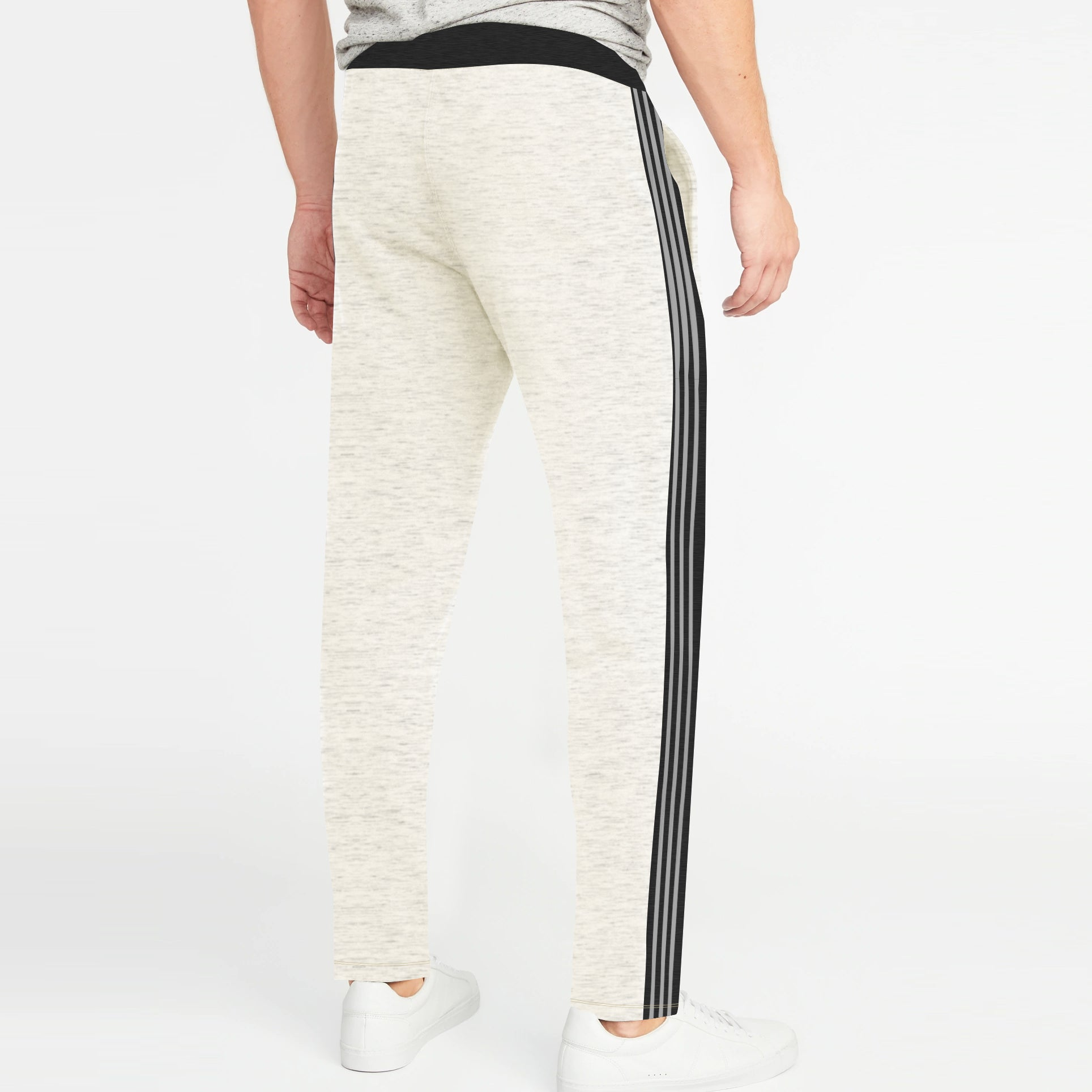 55ce3b19c Adidas Single Jersey Regular Fit Trouser For Men-Light Yellow Melange with  Charcoal & Grey