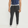 Adidas Single Jersey Slim Fit Jogger Trouser For Men-Charcoal Melange With Grey Melange & Black Stripe-BE8847