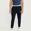 Adidas Single Jersey Slim Fit Jogger Trouser For Men-Dark Navy With Grey Melange & Black Stripe-BE8844