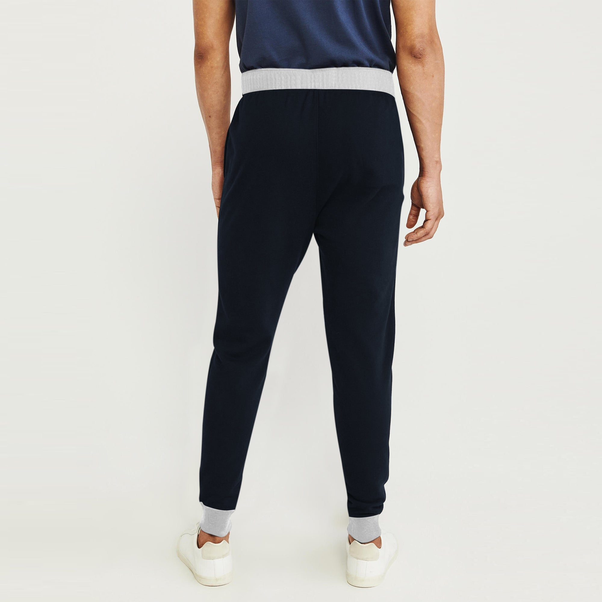 color brilliancy good selling cheap for sale Adidas Single Jersey Slim Fit Jogger Trouser For Men-Dark Navy With Grey  Melange & Black Stripe-BE8844