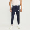 Adidas Single Jersey Slim Fit Jogger Trouser For Men-Purple Melange With Grey & Black Stripe-BE8808