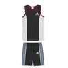 brandsego - Adidas Single Jersey Sport Suit For Kids-Dark Grey Melange & Grey Melange with Navy Stripe-BE9580