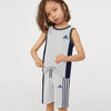 Adidas Single Jersey Sport Suit For Kids-Grey Melange & Navy with White Stripe-BE9434