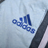 brandsego - Adidas Single Jersey Sport Suit For Kids-Sky Melange & Charcoal Melange with Pink Stripe-BE9113