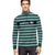 ADS 1/4 Zip Mock Neck Long Sleeve Shirt For Men-Green with Stripe-BE11580